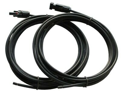 £8.95 • Buy Pair Of 5m Single Core Extension Cable Leads 4mm For Solar Panels And Solar Char