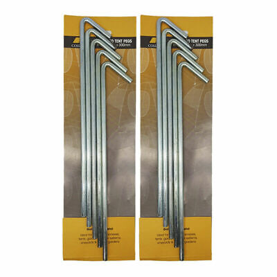 AU22.38 • Buy 10Pcs 8mm X 300mm Tent Pegs Hi-Tensile Galv Steel Aussie Made Heavy Duty Stakes