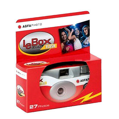 £11.95 • Buy Agfa LeBox Single Use Disposable Camera With Flash 27exp 03/24