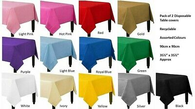 £2.50 • Buy Pack Of 2 Disposable Paper Table Covers / Table Cloths - Square 90CM X 90CM