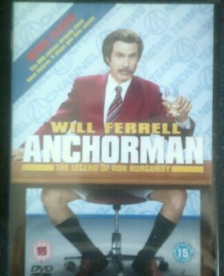 £2 • Buy Anchorman*dvd*will Ferrell*comedy*rated 15*new And Sealed