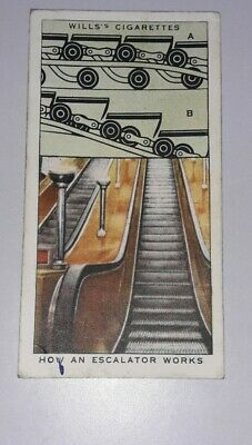 £1 • Buy ** Will's Cigarettes - Railway Equipment - No. 15 How An Escalator Works **