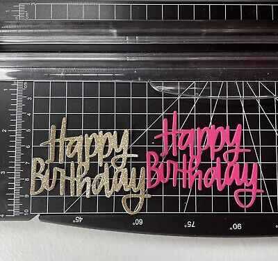 £2.50 • Buy Die Cuts 20 X Happy Birthday Sentiment Card Topper. Embellishments. Decoration