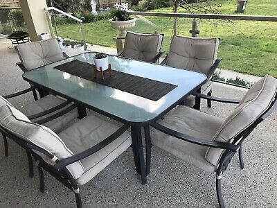 AU280 • Buy Outdoor Setting Glass Table And 6 Chairs