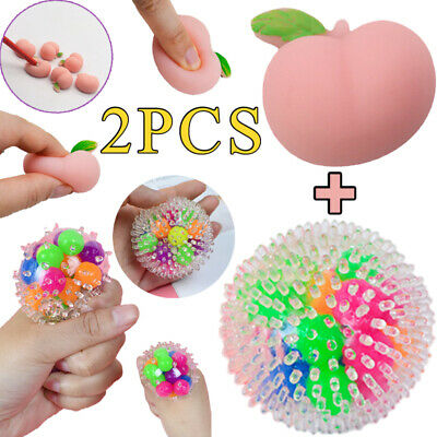 £5.99 • Buy 2X Peach & DNA Stress Ball Fidget Sensory Toys Squeeze Ball Anxiety Reliever UK
