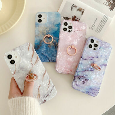 AU3.61 • Buy Sky Marble Phone Case Cover For IPhone 7 8 Plus XR XS 11 12 PRO MAX Ring Holder