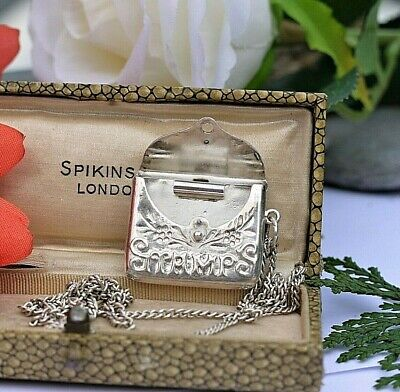 £39 • Buy Sterling Silver Stamp Case Holder On Sterling Silver Chain