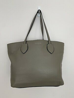 £49.99 • Buy Coccinelle Tote Bag Taupe Grain Leather Double Handles