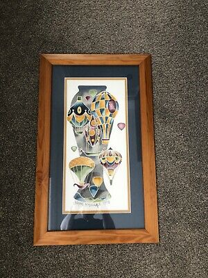 £450 • Buy Moorcroft Framed WATERCOLOUR Painted By Jeanne McDougall 1998