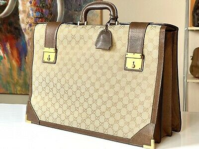 $699.99 • Buy GUCCI Italy 18  Supreme Vintage Lawyer Professional Briefcase Doctor Attache Bag