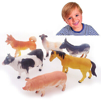 £6.95 • Buy NEW Pack Of 6 Farm Animals Play Set Toy Figures Plastic For Children Toys Farm