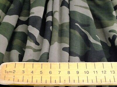 £4.99 • Buy Cotton Jersey Lycra  Camouflage  Green