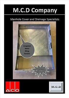 £52.55 • Buy Manhole Cover Recessed 600x600/80 All Metal Frame Tray And Lifting Handles