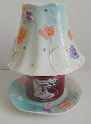 £19.99 • Buy Yankee Candle Rare And Beautiful Spring Design Set Jar Shade And Plate - Large
