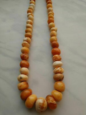 £252.36 • Buy Antique Natural Butterscotch Egg Yolk Baltic Amber Beads Necklace 23.9g.