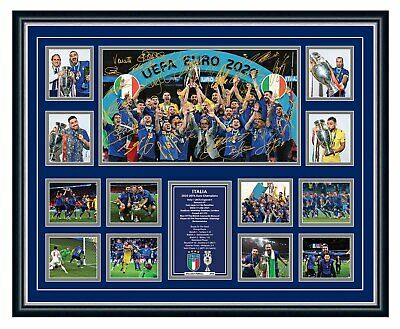 AU99.99 • Buy Italy Euro 2020 2021 Champions Signed Poster Limited Edition Framed Memorabilia