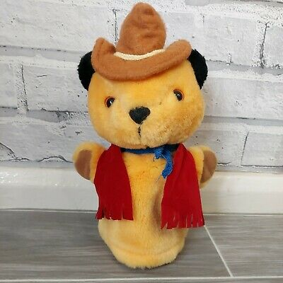 £14 • Buy Vintage Cowboy Sooty Musical Hand Puppet Plush,  Sooty And Sweep Show Titan Toys