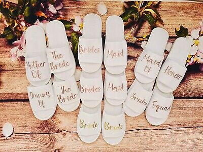 £3.99 • Buy Personalised Slippers Spa Slippers Party Wedding Hen Do Bride Wedding