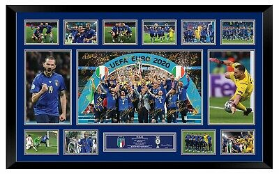 AU220 • Buy Italy Euro 2020 2021 Champions Signed Poster Limited Edition Framed Memorabilia