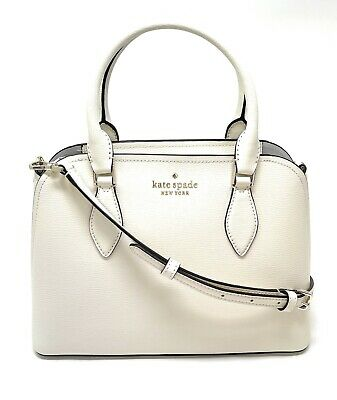 $ CDN180.94 • Buy Kate Spade Darcy Small Satchel Crossbody Shoulder Bag Parchment Leather WKR00438