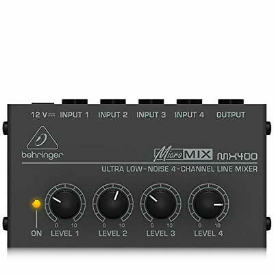 £42.27 • Buy Behringer Micromix MX400 Ultra Low-Noise 4-Channel Line Mixer,Black