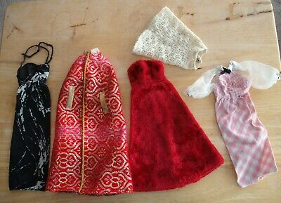 $ CDN19.99 • Buy Vintage BARBIE And Friends Dresses Gowns Cape Skirt Lot Of 5 FREE Ship Canada