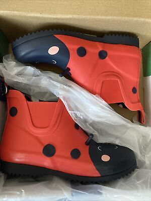 £18.99 • Buy Joules Girls Wellies Size UK13 Red Ladybird Short New In Box