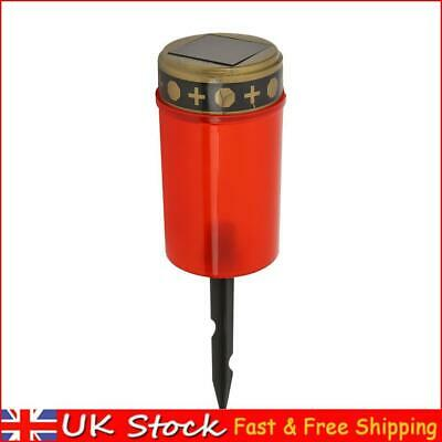 £7.75 • Buy Solar Power Grave Lawn Light Flameless Electronic LED Candle Lamp (Red)