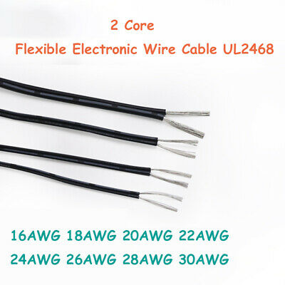 £1.35 • Buy 2 Core Flexible Electronic Wire UL2468 Electrical Cable 16 - 30AWG Copper Tinned