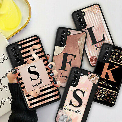 £5.98 • Buy PERSONALISED ROSE GOLD FLOWERS Phone Hard Case Cover For Samsung S21 Plus Ultra