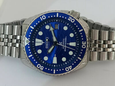 $ CDN147.14 • Buy Seiko Diver 7002-700j Lovely Save The Ocean Mod Automatic Mens Watch Sn. 190163