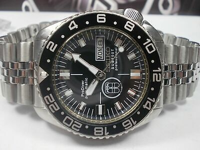 $ CDN218.12 • Buy Vintage Seiko Diver 6309-729a Black Prodiver Modded Automatic Mens Watch 7n4134
