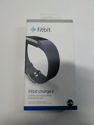 $ CDN31.41 • Buy Fitbit Charge 2 Leather Band Strap Accessory Large Blue Indigo