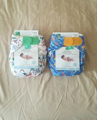 £30 • Buy 2 X TotsBots Easyfit All-In-One Reusable Day/Night Nappies From Newborn, Baby