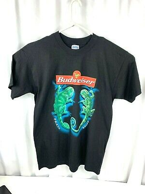 $ CDN55.95 • Buy Budweiser Vintage Frank And Louie Lizard Mens LG Black Frogs Commercial T-Shirt