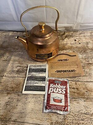 £59.95 • Buy Polaris Copper Kettle Vintage Inc Cleaning Solution And Instructions Norway Rare