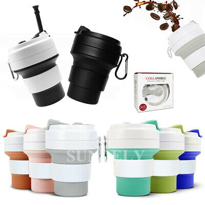£8.57 • Buy 350ML Outdoor Portable Folding Telescopic Silicone Folding Cups Of Coffee Cup
