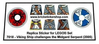 £3.37 • Buy Precut Custom Replacement Stickers For Lego Set 7018 - Viking Ship Challenges Th