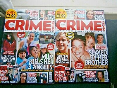 £4.99 • Buy  Crime Monthly Magazines Issue 23 February & Issue 24 March  (new) 2021