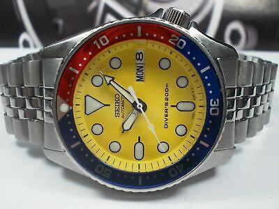 $ CDN98.67 • Buy Lovely Yellow Modded Seiko 7s26-0030 Skx013 Automatic Mens Watch Sn 700246.