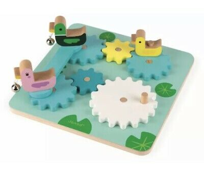 £12.50 • Buy Janod GEAR DUCK POND Wooden Toy BN AA