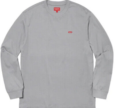 $ CDN124.12 • Buy Supreme Small Box L/s Tee Grey Sz Large Fw20 Week 11 In Hand Fw20 Stickers Pack