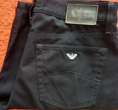 £31 • Buy Armani Jeans Comfort Fit Chino Shorts In Black Waist 34 Very Good Condition