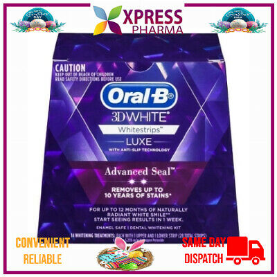 AU33 • Buy Oral B 3D Luxe White Strips 14 Whitening Treatments Teeth Oral Care NEW XPRESS