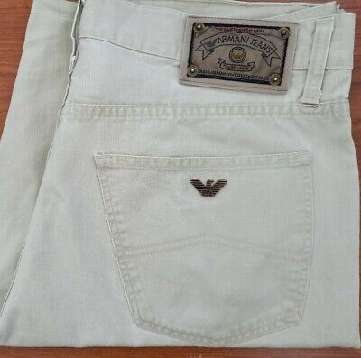 £9.99 • Buy Armani Jeans Shorts In Beige Waist 38 Made In Italy Very Good Condition