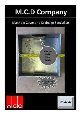£54.89 • Buy Recessed Manhole Cover 300x300x80  All METAL Frame, Tray And Handles MCD Company