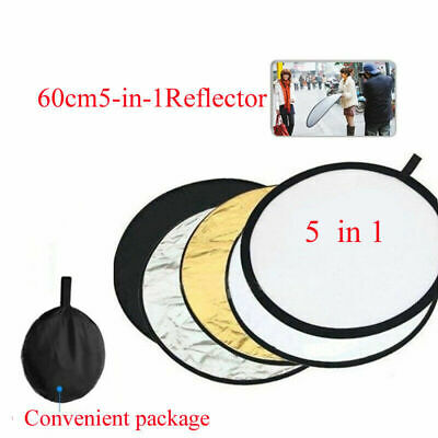 £8.30 • Buy 5 In 1 60cm Photography Studio Multi Photo Disc Collapsible Light Reflector