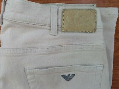 £10.50 • Buy Armani Jeans Chino Shorts In Beige Comfort Fit Stretch Waist 34 Made In Italy