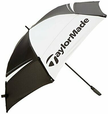 £63.99 • Buy TaylorMade Golf Umbrella Black 68 Inch Double Canopy  Tour Preferred Black