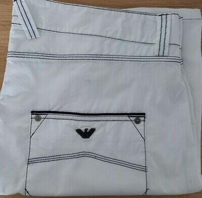 £9.99 • Buy Armani Jeans Comfort Fit (stretch) Shorts In White Waist 40 Fantastic Condition
